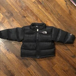 North face infant puffer jacket 3-6m black